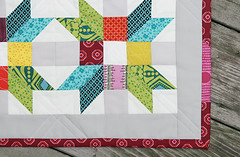 Poinsettia Pillow ~ Project for Quilt Camp (Fresh Lemons : Faith) Tags: pillow paperpiecing denyseschmidt chicopee miniquilt quiltcamp modernquilt goodfolks millersdaughter annamariahorner artgalleryfabrics straightlinequilting freespiritdesignersolids pureelements nancycabot envelopeenclosure