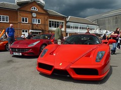 Enzo (BenGPhotos) Tags: red cars car museum photo italian sunday fast ferrari exotic enzo rare ff supercar 2012 supercars combo v12 brooklands f60 hypercar
