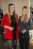 Niamh O'Reilly and Frankie Bannon at the launch of the Marks & Spencer Autumn Winter Collection in the Rooftop Restaurant in M&S on Grafton St