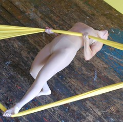 STRETCH / HOOK (deannapellecchia) Tags: sculpture art yellow architecture design moving dance artist dancers dancing body performance performing dancer stretch kinetic fabric installation perform performers performer sculptures choreography spandex sitespecific choreographer