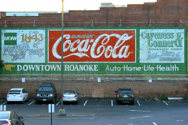Downtown Roanoke / Coca-Cola Mural