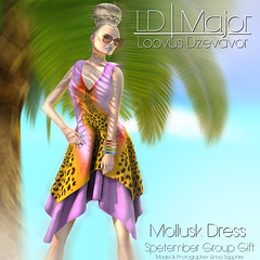 LD Major Mollusk Dress Sept GG Advert (Anna Sapphire) Tags: fashion model secondlife annasapphire vikeejeahxevion loovusdzevavor ldmajor