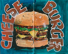 Cheese Burger (rcannonp) Tags: food sketch paint acrylic drawing sketchbook montanamarker stillmanbirn