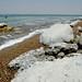 Pedras de sal na praia