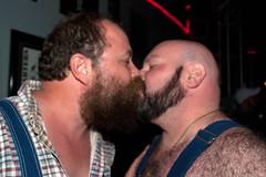 Bourbon Bear Contest-4x6-5168 (Mike WMB) Tags: bear beard kiss bald