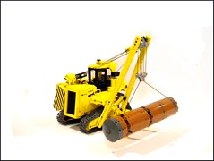 LEGO CAT PL-87 (Jon Treasure) Tags: lego diesel pipe tracks first motors caterpillar layer ever rc xl pl87