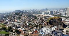 Panoramic view: neighborhood of Santo Cristo . Rio de Janeiro. Brazil (Rubem Jr) Tags: ocean street city travel blue braz