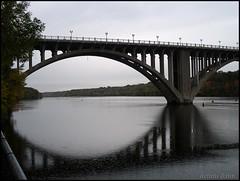 Rainy Day Reflections (novice09) Tags: bridge stpaul minneapolis mississippiriver mn
