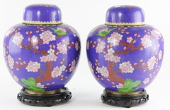 94. Pair of Cloisonne Urns