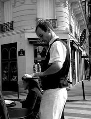 Typical Paris (jezselten) Tags: city black paris france art contrast buildings walking colours tourist