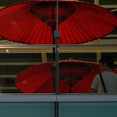 Red Bangasa            (erikomoket) Tags: red japan umbrella rouge japanese traditional  japon  parapluie 500x500 traditionnel   d3200 bangasa erikomoket