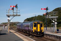 NW_109 (Stuart's Transport) Tags: uk train northern signal barrow semaphore 156 dmu class156 cumbriancoast 156438