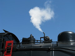 Letting Off Some Steam (bluerim) Tags: alabama birminghamal steamlocomotive norfolksouthernrailroad tvrrmuseum 21stcenturysteam southernrr632