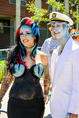 Mermaid Parade Couple (drpavloff) Tags: nyc newyork girl beautiful sex tattoo naked coneyisland costume paint breast tits boobs body topless nudeinpublic naturist bodypainting mermaid bigboobs sexinpublic tattoogirls girltattoo toplessinpublic toplessparade