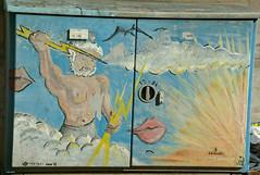 Zeus Elèctric (Siemens), pintada al carrer, Nuremberg (Sebastià Giralt) Tags: germany painting deutschland graffiti nuremberg zeus alemania mythology pintura nurnberg mitologia alemanya classicaltradition tradicionclasica jupitertradicioclassica