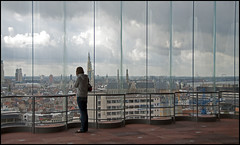 Antwerpen (illie72) Tags: panorama window skyline mas antwerpen museumaandestroom thepinnaclehof panoramaraam 100picturesin201287glass tphofweek184
