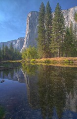 Merced River and El Capitan (HavCanon.WillTravel) Tags: california reflection canon duck yosemite elcapitan hdr mercedriver fdrtools