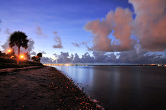 Before Sunrise (ShacklefordPhotoArt) Tags: ocean beach night clouds sunrise florida cloudy miami biscaynebay