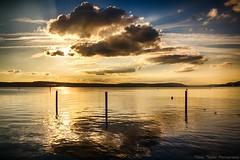 Evening-Dream (Tobias Theiler Photography) Tags: sunset sun lake reflection water clouds germany still fineart constance pfahlbauten landscapephotography unteruhldingen landschaftsfotografie tobiastheilerphotography