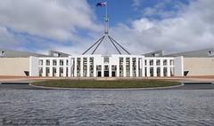 canberra 013 (raqib) Tags: sky architecture emblem coatofarms flag politics capital australia parliament government canberra capitalhill rc act parliamenthouse australiancapitalterritory d90 australianparliament