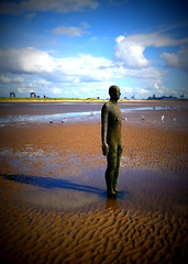 Another Place at Crosby Beach (chrisbell50000) Tags: shadow sculpture man reflection men beach water modern naked nude penis lomo sand iron place bare cock anthony another knob sculptures pornographic gormley crosby merseyside undressed blundellsands chrisbellphotocom