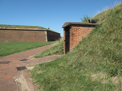 Fort McHenry NM ~ path through the ramparts (karma (Karen)) Tags: light grass shadows bricks maryland baltimore paths walls nm ftmchenry