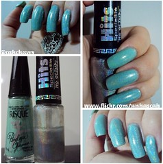 Armadilha Tropical (Risqué) com Hefesto (Hits) (Camila (unhas)) Tags: verde green hand nails hits nailpolish mão unhas risque esmaltes esmalte