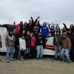 Dean Hoffman has a proud group of supporters in the Eldora campgrounds on Friday night