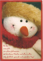Sweet Snowman (Mailbox Happiness-Angee at Postcrossing) Tags: christmas red snowman merrychristmas christmascard christmaspostcard
