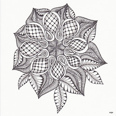 mandala (Jo in NZ) Tags: ink mandala linedrawing zentangle nzjo