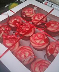 Romantic Red Cupcakes