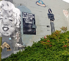 THE WOUND IS THE PLACE WHERE THE LIGHT ENTERS. (Tyler Merbler) Tags: marilynmonroe ufo silverlake
