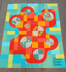 Hurle Burle Marx quilt (Dan @ Piece and Press) Tags: quilt quilting patchwork drunkardspath frippery freemotionquilting fmq curvedpiecing