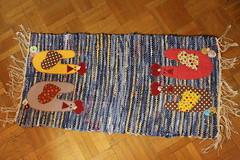 Trilho galinhas (ceciliamezzomo) Tags: chicken table galinha handmade fuxico patchwork hen runner gallina galinhas trilho