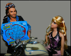 You Can't Win If You Don't Play (MarilynTee) Tags: dolls ken barbie motorcycle lotteryticket