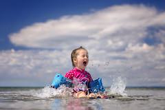 summertime (Sigita JP) Tags: summertime splash sea seafront child kidsportrait naturallightphotography 50mm outdoors ocean westofireland