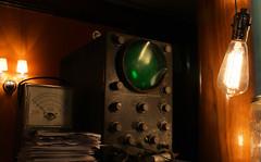 oscilloscope (trekkie313) Tags: vintage electronics meter lightbulb warm indoor