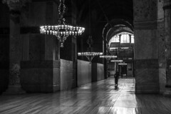 - Interior Of The Hagia Sophia - (Mr. LookUP) Tags: light people bw reflection building beautiful architecture canon turkey blackwhite wideangle indoor istanbul mosque 1022mm blackandwithe