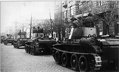 "Tanks BT-7 Soviet 24th lightalloy brigade enter the city of Lviv • <a style=""font-size:0.8em;"" href=""http://www.flickr.com/photos/81723459@N04/28372137616/"" target=""_blank"">View on Flickr</a>"