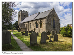 Holy Trinity and St Oswalds, Finningley (Paul Simpson Photography) Tags: holytrinityandstoswalds finningley southyorkshire village villagechurch tower religion imagesof imageof photosof photoof paulsimpsonphotography headstones footpath grass graves history hostoricbuilding building