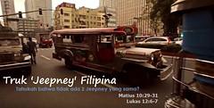 Truk Jeepney Filipina (Dua atau Tiga Orang Saksi) Tags: amazingfacts jeepney angkot truk filipina unik tuhan rambut kebenaran tersembunyi alkitab kitab suci