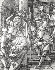 Phillip Medhurst presents John's Gospel: Bowyer Bible print 5544 Jesus is scourged John 19:1 Durer (Phillip Medhurst) Tags: john johnsgospel gospelaccordingtojohn gospel jesus christ jesuschrist bowyerbible bible bibleillustration