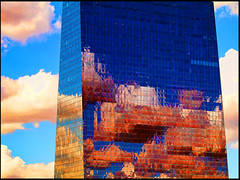 His Office Reflects His Style (raymondclarkeimages) Tags: rci raymondclarkeimages 8one8studios usa colors clouds reflection sky building philly philadelphia 7d 70200mm canon style skyscraper highrise officebuilding windows lines pattern glass structure