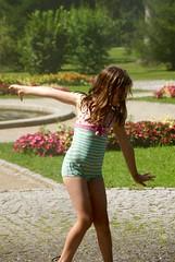 In the mood for dancing! (Loulum) Tags: water hellbrunn austria dancing sprinkler