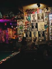 Life is hard (mkksg13) Tags: life is hard poster bar philly philadelphia pa pennsylvania pool table green purple