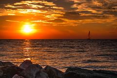 DSC_5921 (briansterken) Tags: dusk sunset sea seaside ocean lake water outdoor michigan lakemichigan shore beach landscape sky serene cloud coast puremichigan sun boat sailboat