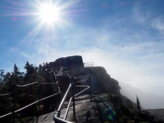 The final climb (pilechko) Tags: sky sun clouds color adirondacks whitefacemountain mountain rails steps climb hike reflection sunlight shine