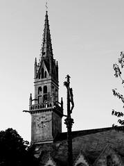 Church and cross - Plouguin (patrick_milan) Tags: church cross christian catholic architecture patrimoine monument glise croix catholique plouguin bretagne