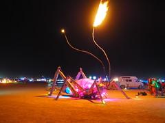 The Giant Weta (michicat) Tags: burningman brc blackrockcity playa nevada burningmanatnight fire fireart