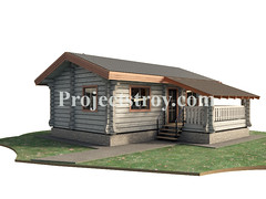 Sauna house log cabin (projectstroy) Tags: log home house sauna designe drawing blockhouse 3d rendering project plan          building